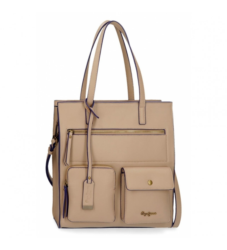 Comprar Pepe Jeans Shoulder Bag Pepe Jeans Zoe taupe -30x32x13cm