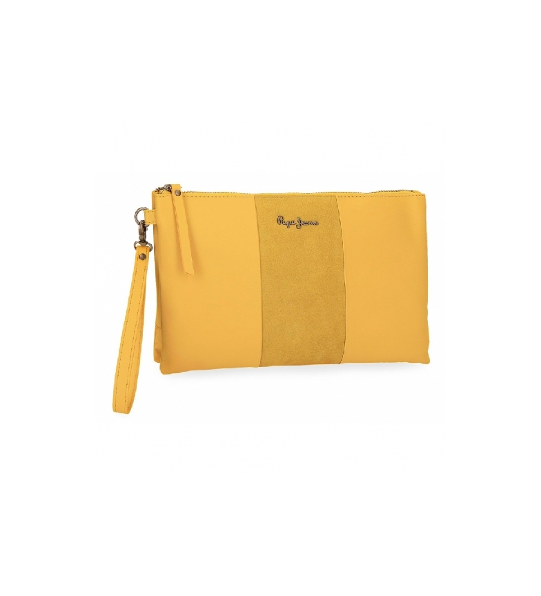 Comprar Pepe Jeans Pepe Jeans Double Yellow leather handbag -17x27x2cm