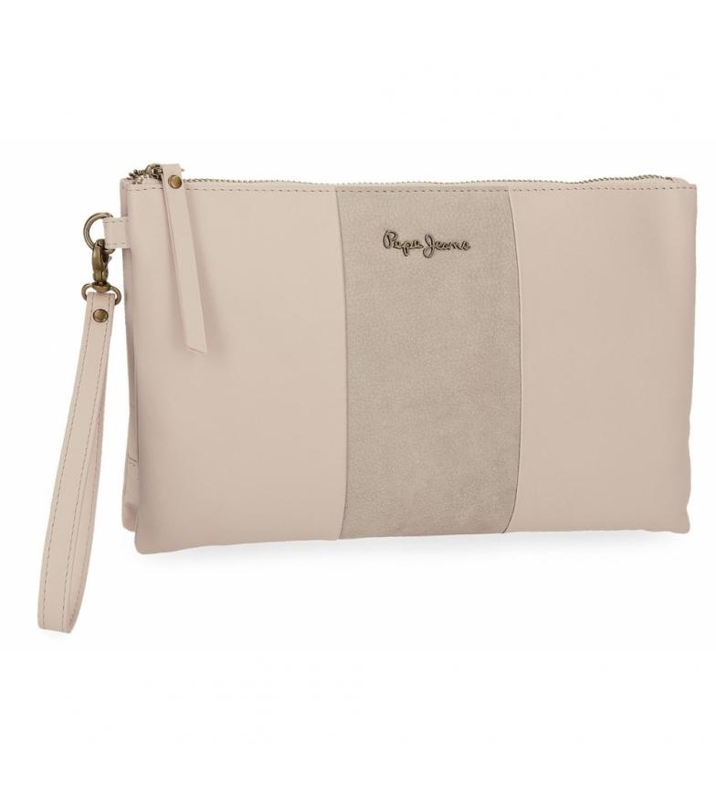 Comprar Pepe Jeans Pepe Jeans Double Beige leather handbag -17x27x2cm