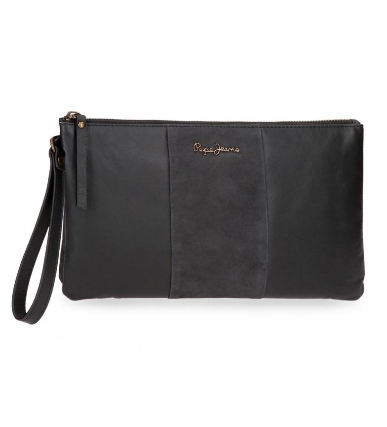 Comprar Pepe Jeans Pepe Jeans Double sac à main en cuir Noir -17x27x2cm
