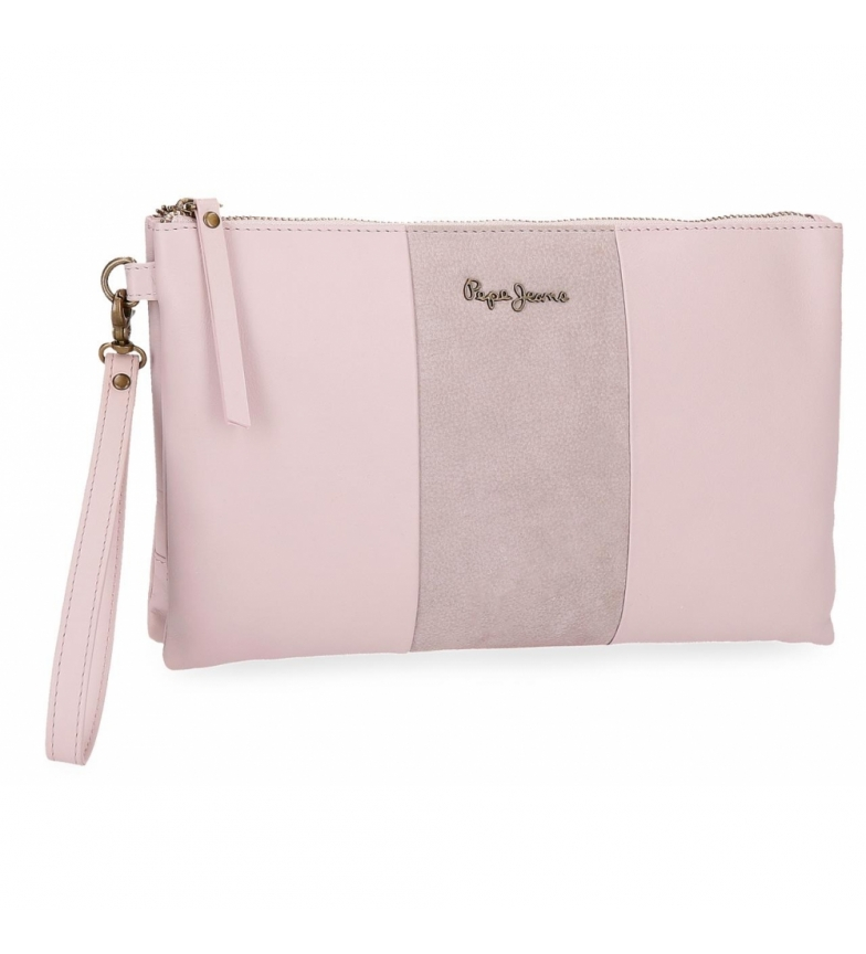 Comprar Pepe Jeans Pepe Jeans Double Pink leather handbag -17x27x2cm