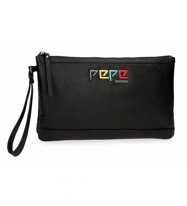 Comprar Pepe Jeans Bolso de mano de piel Pepe Jeans Mandala Negro -17x27x2cm-