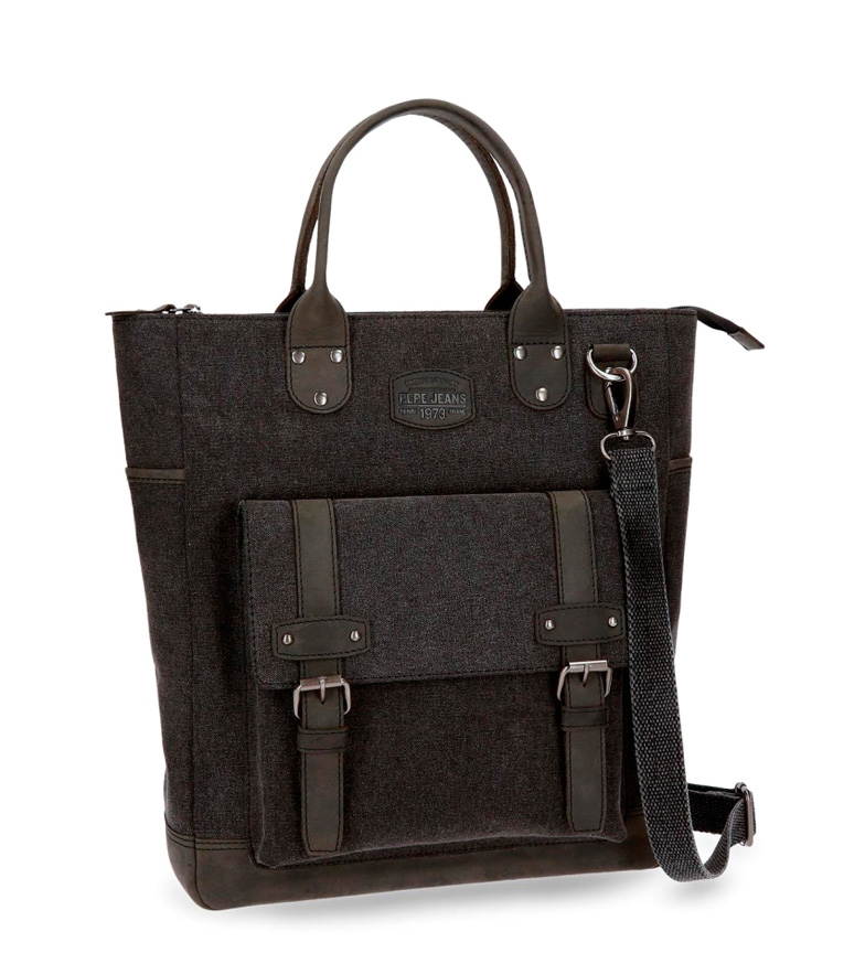 Comprar Pepe Jeans Pepe Jeans Horse shopper bag in black leather details