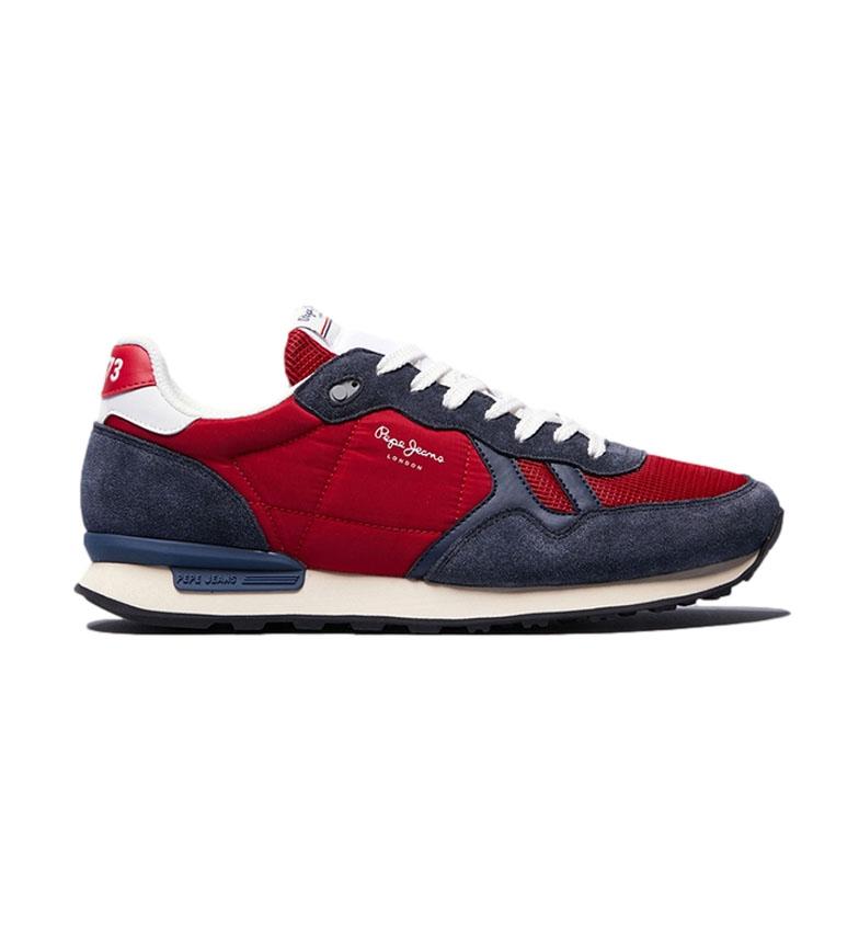 Pepe Jeans Zapatillas de piel Britt Reverse rojo