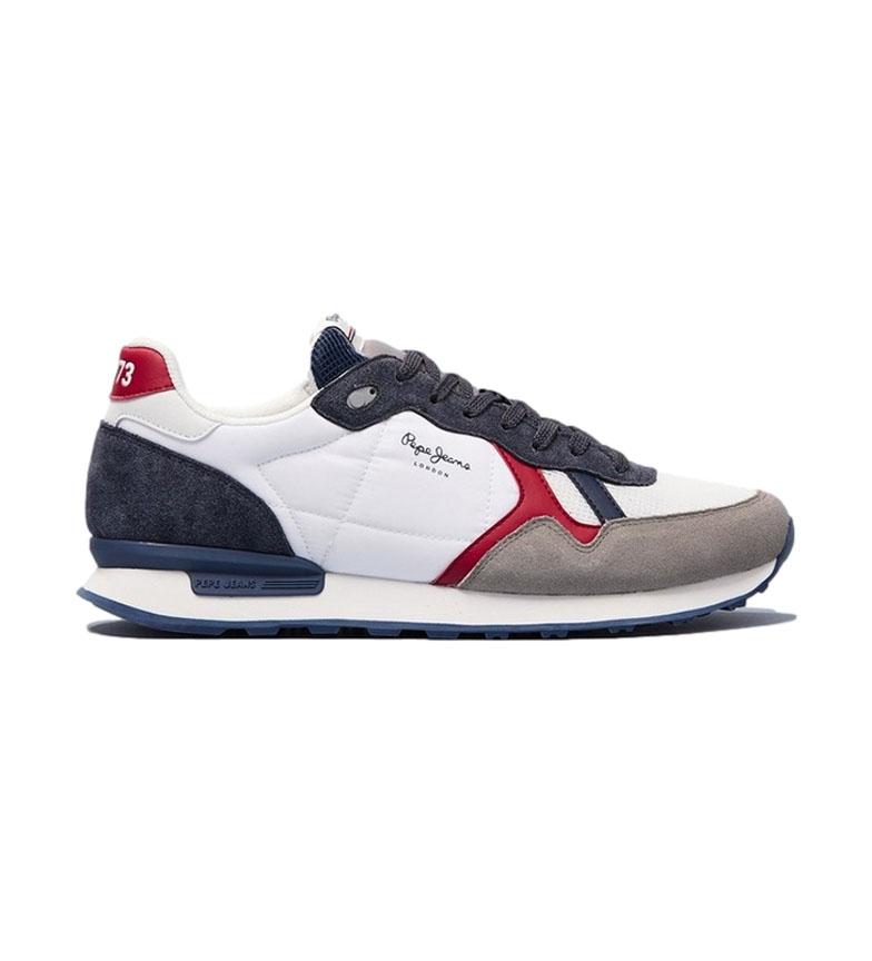 Pepe Jeans Britt Reverse sneakers in pelle bianche