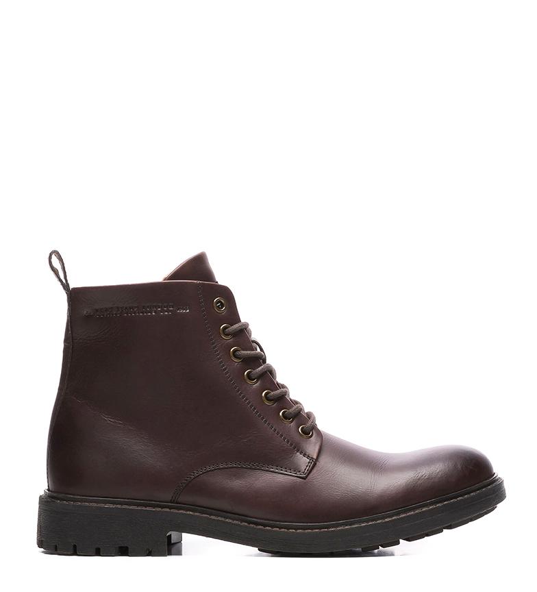 Comprar Pepe Jeans Botines de piel Porter Boot Basic burdeos