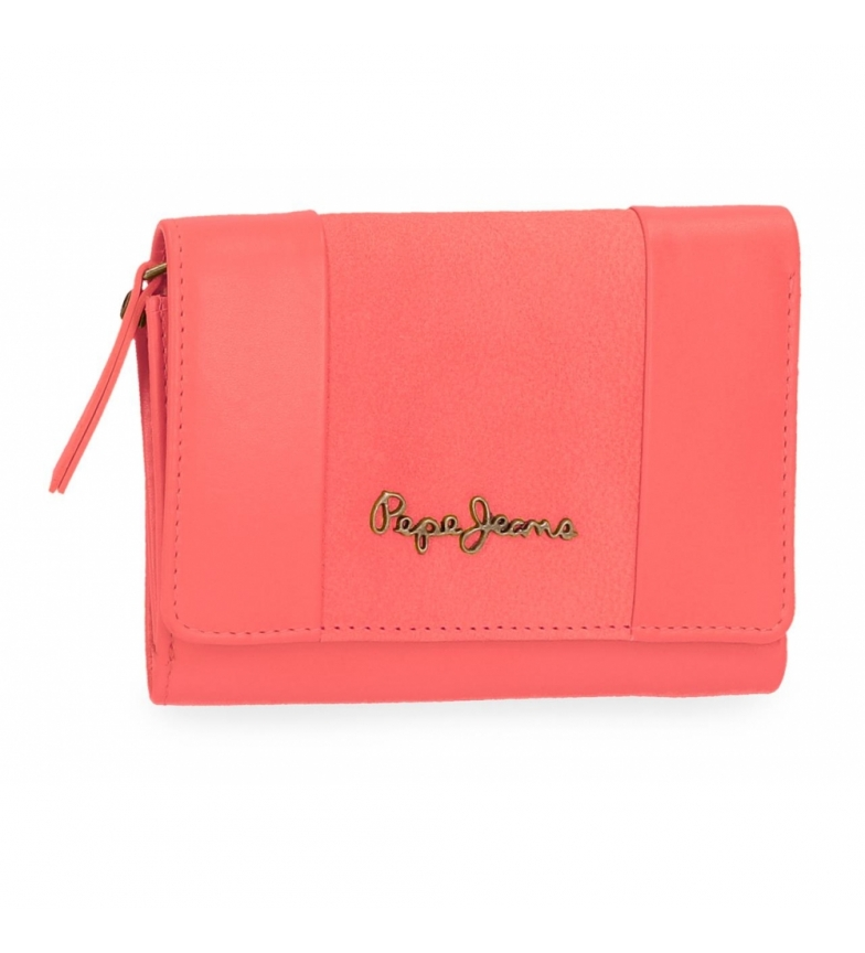 Comprar  Pepe Jeans Double Coral leather wallet with flap -9x12x2,5cm