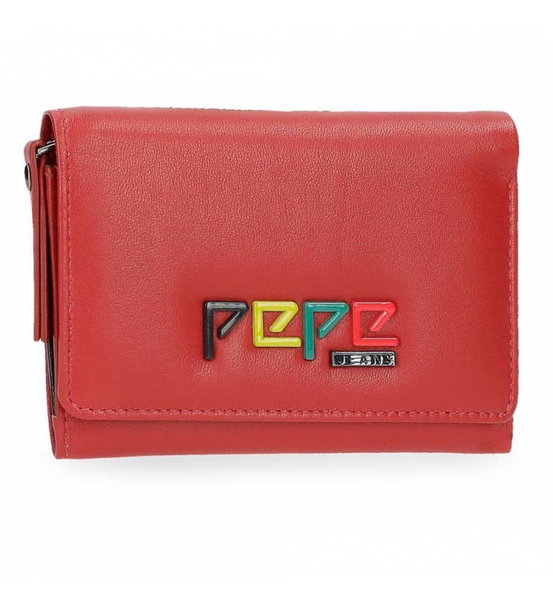Comprar Pepe Jeans Leather wallet with flap Pepe Jeans Mandala red -9x12x2,5cm