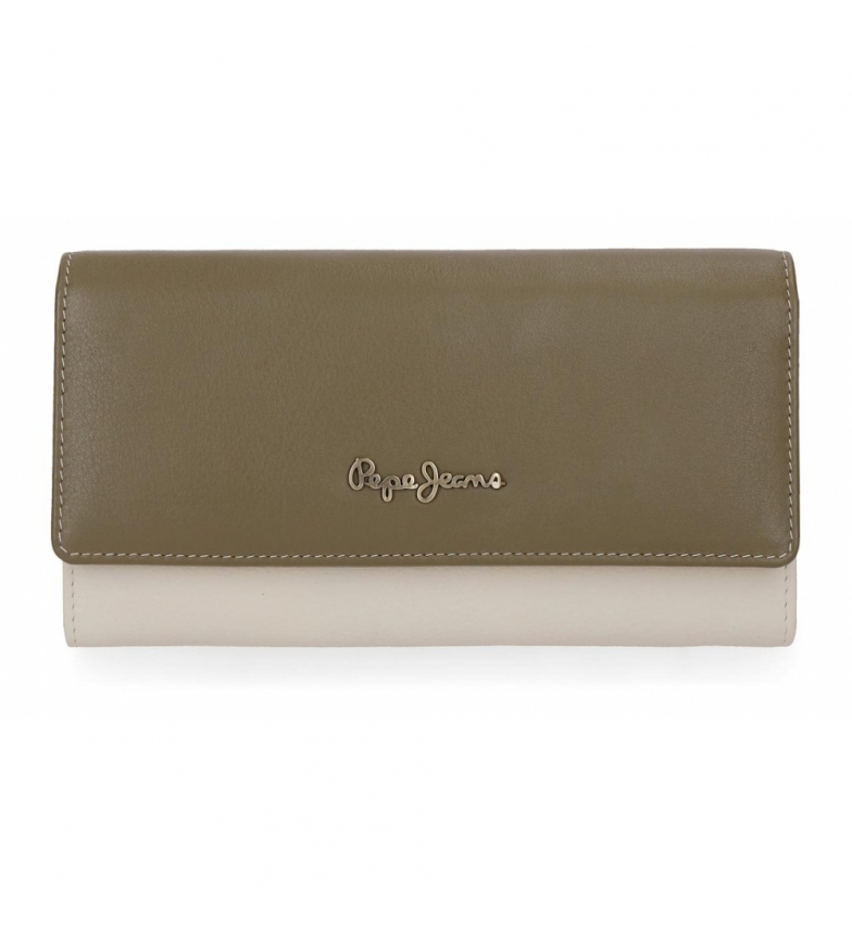 Comprar Pepe Jeans Pepe Jeans Green Mine Wallet with flap -19x10x2.5cm-