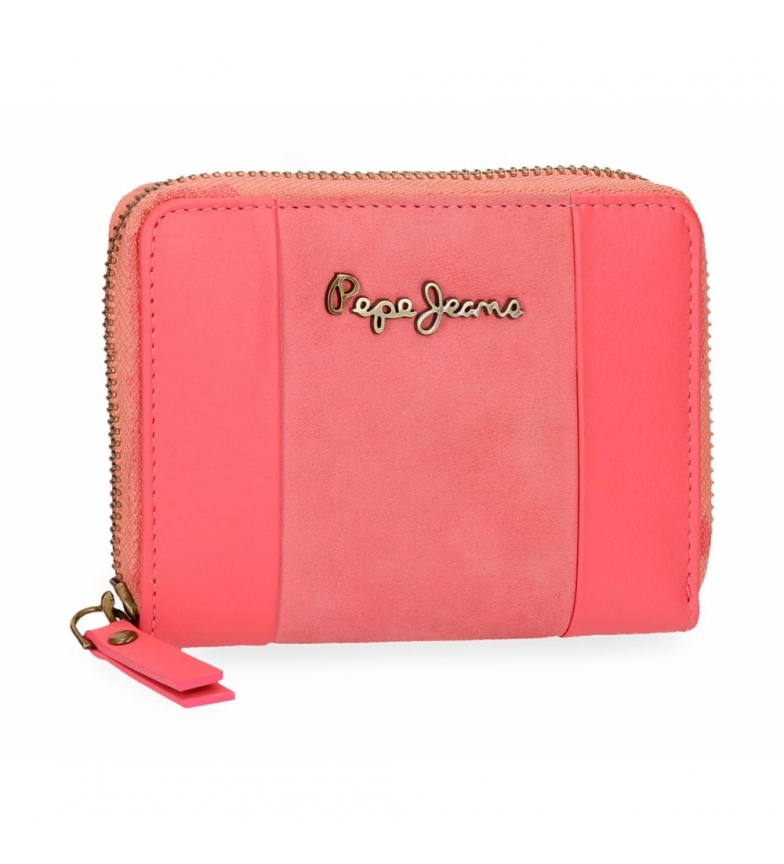 Comprar Pepe Jeans Pepe Jeans Double Coral leather zipper wallet -11,5x9x2cm
