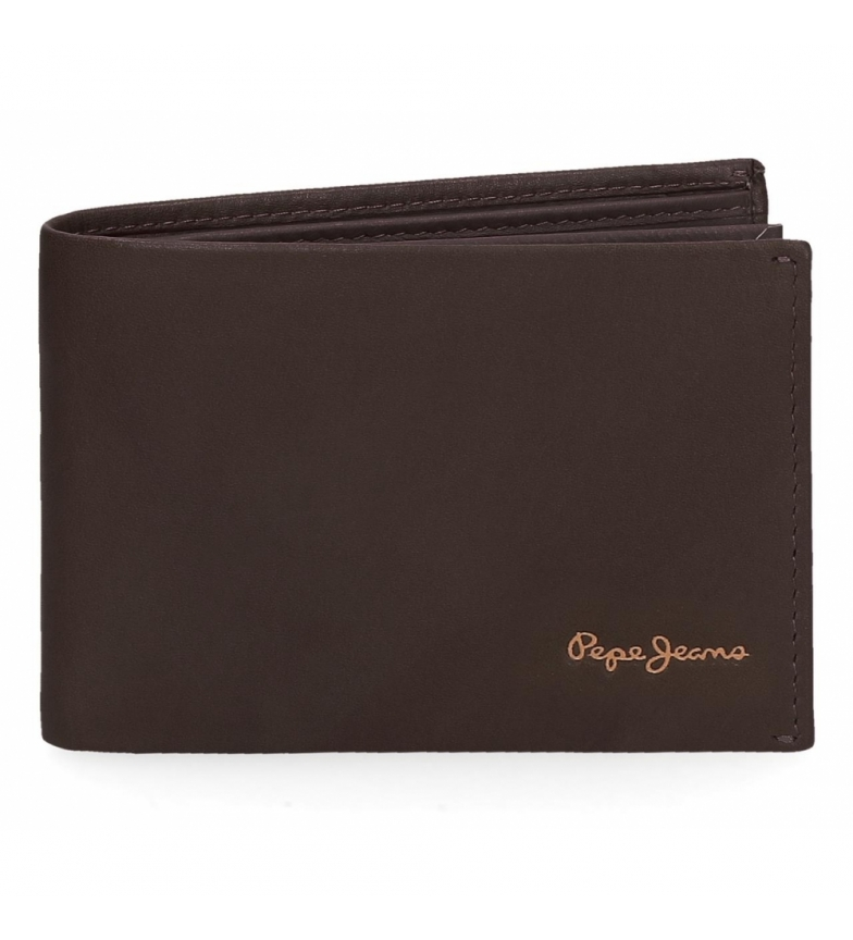 Comprar Pepe Jeans Portafoglio orizzontale in pelle Pepe Jeans Fair con portamonete marrone -11x7,5x1,5 cm-