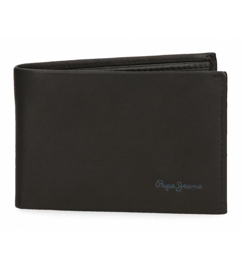 Comprar Pepe Jeans Pepe Jeans Portefeuille horizontal en cuir avec sac à main noir -11x7.5x1.5cm