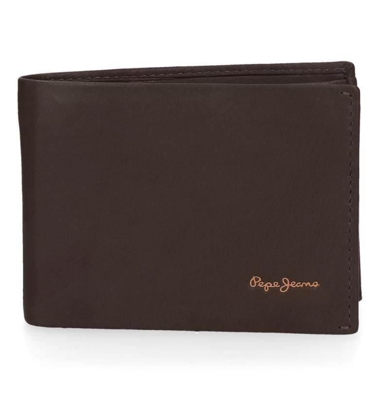 Comprar Pepe Jeans Cartera de piel Pepe Jeans Fair horizontal marrón -11.5x8x1cm-
