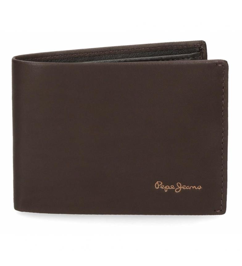 Comprar Pepe Jeans Pepe Jeans Portefeuille en cuir brun clair -11x8x1cm