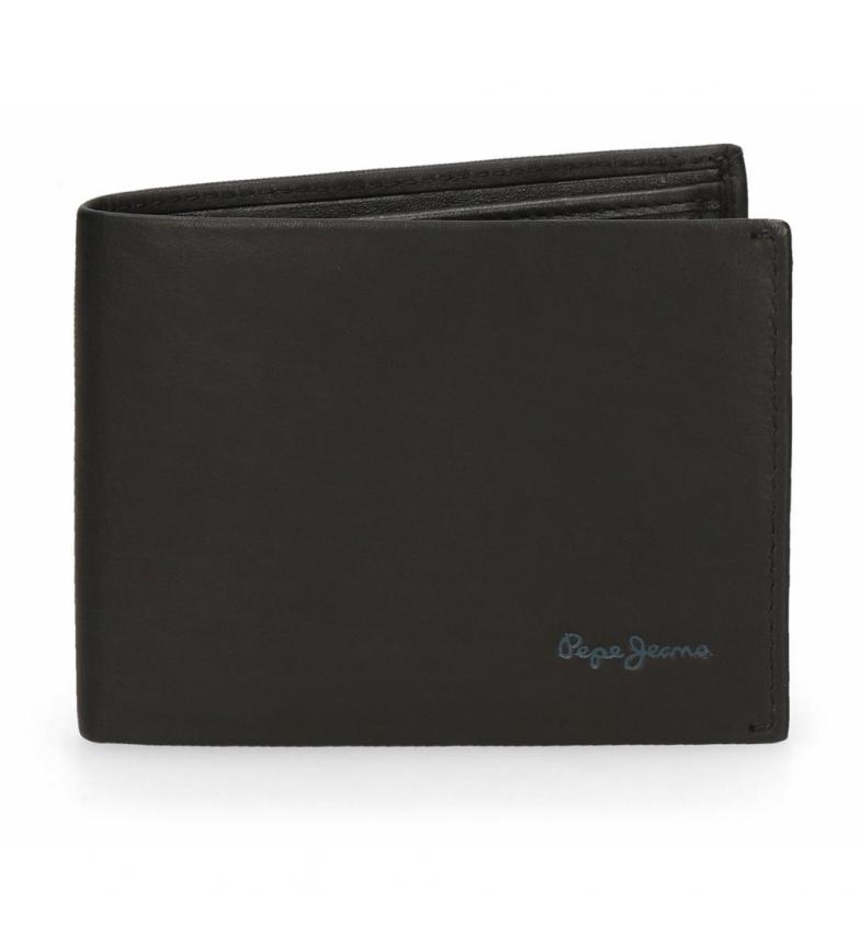 Comprar Pepe Jeans Pepe Jeans Portefeuille en cuir clair noir -11x8x1cm