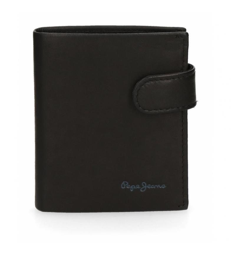 Comprar Pepe Jeans Pepe Jeans Fair carteira vertical de couro com fecho de clique preto -8.5x10.5x1cm-