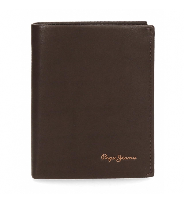 Comprar Pepe Jeans Pepe Jeans Fair leather wallet vertical with brown purse -8.5x11.5x1cm