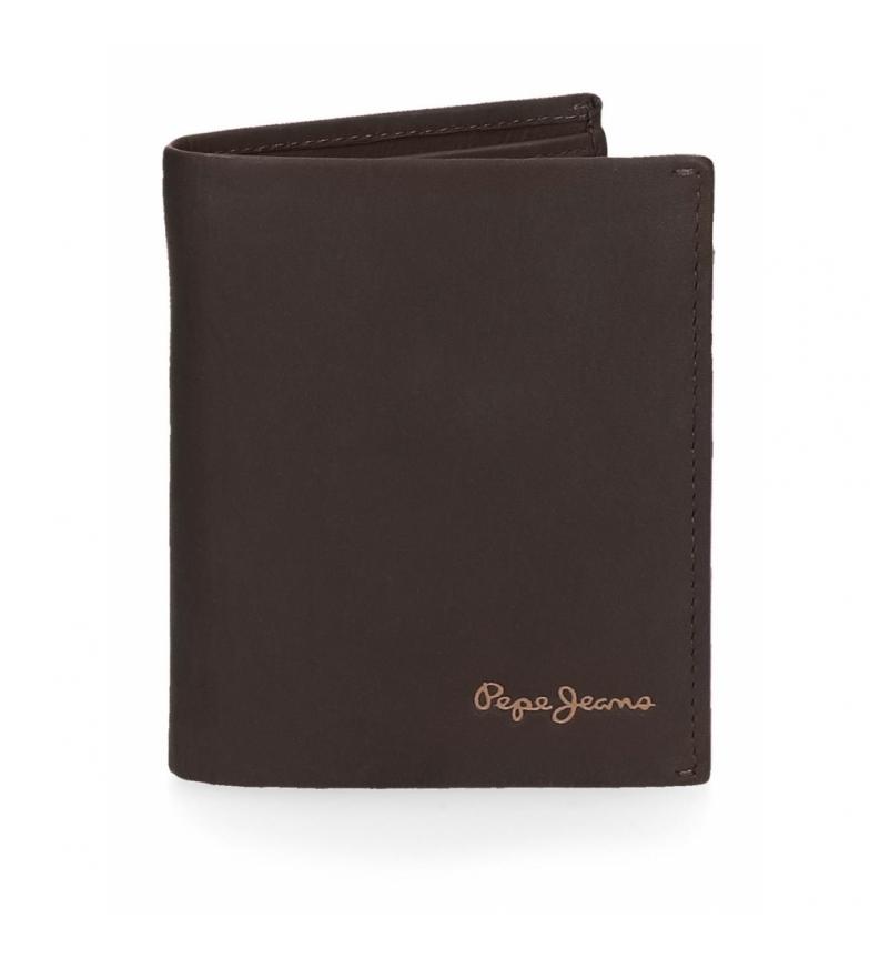 Comprar Pepe Jeans Pepe Jeans Portefeuille en cuir clair vertical marron -8.5x10.5x10.5x1cm