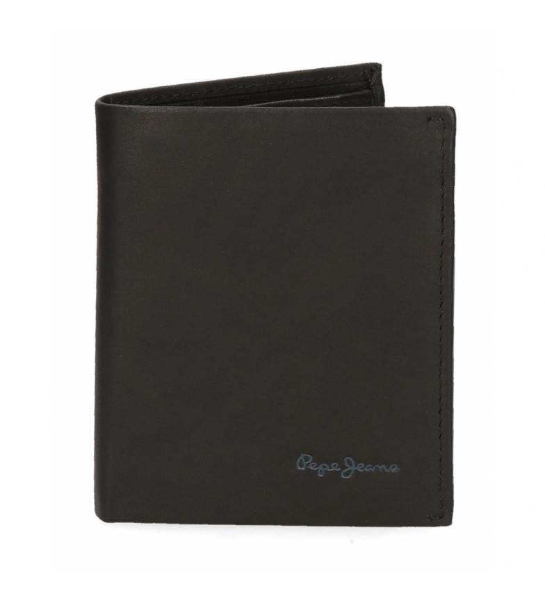 Comprar Pepe Jeans Pepe Jeans Portefeuille en cuir clair vertical noir