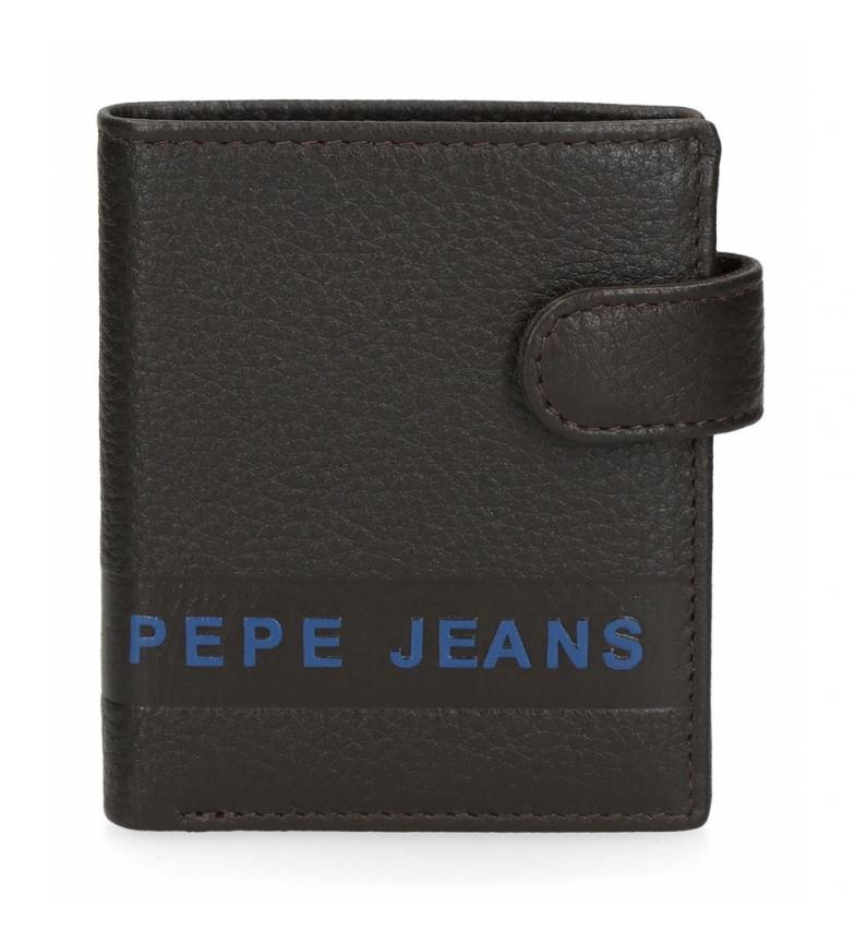 Comprar Pepe Jeans Pepe Jeans Portefeuille vertical en cuir avec fermeture à déclic marron -8.5x10.5x10.5x1cm