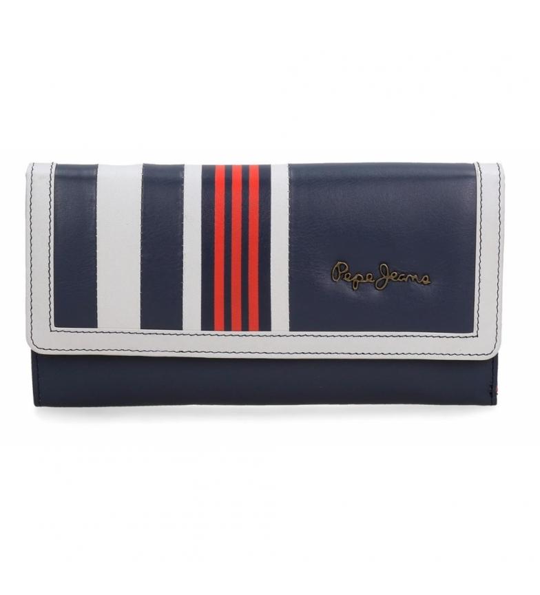 Comprar Pepe Jeans Grand portefeuille en cuir avec rabat Pepe Jeans Lines -19,5x10x2cm