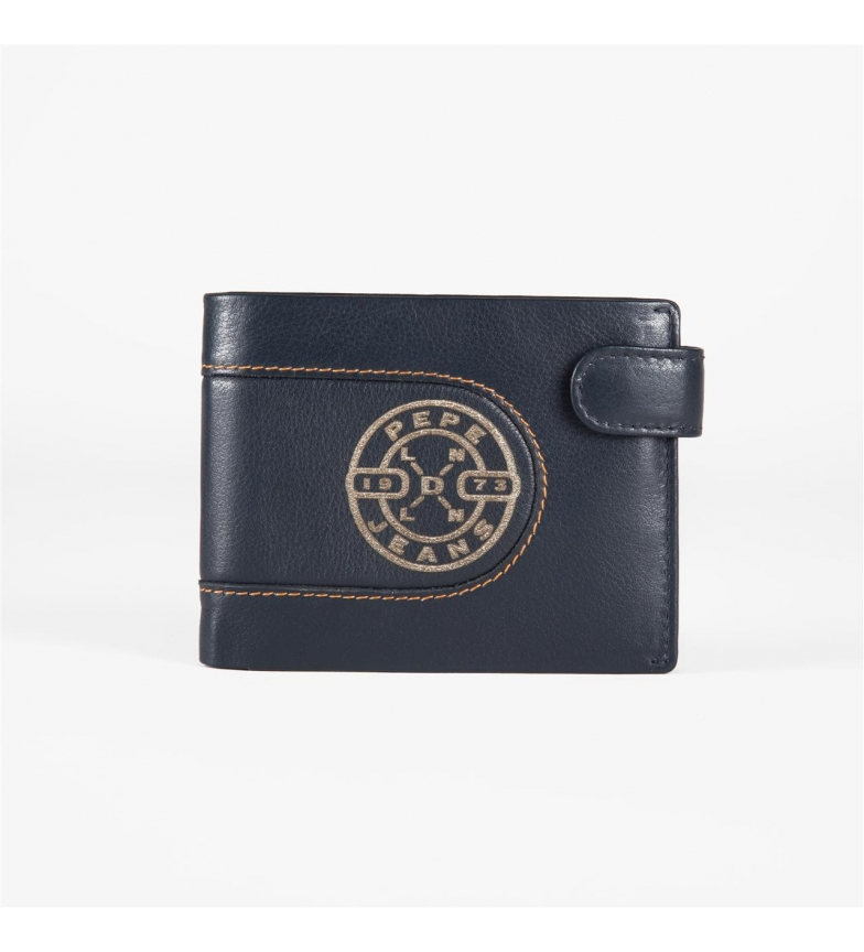 Comprar Pepe Jeans Wallet Pepe Jeans Burned horizontal with click closure Blue -11x8,5x1 cm-
