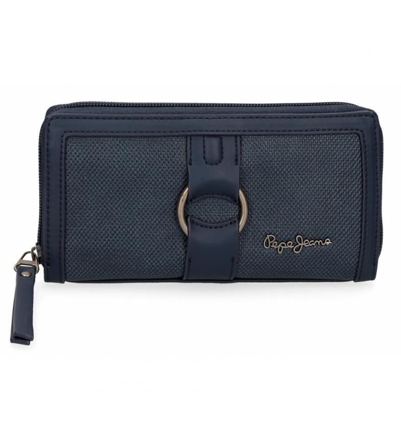 Comprar Pepe Jeans Daphne carteira azul -18x10x2x2cm