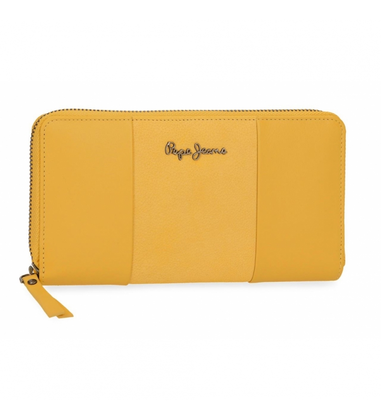 Comprar Pepe Jeans Pepe Jeans Double Yellow leather wallet -19,5x10x2cm