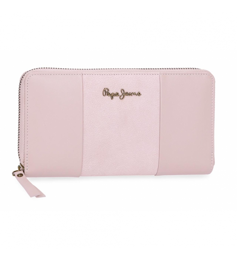 Comprar Pepe Jeans Pepe Jeans Double Pink leather wallet -19,5x10x2cm