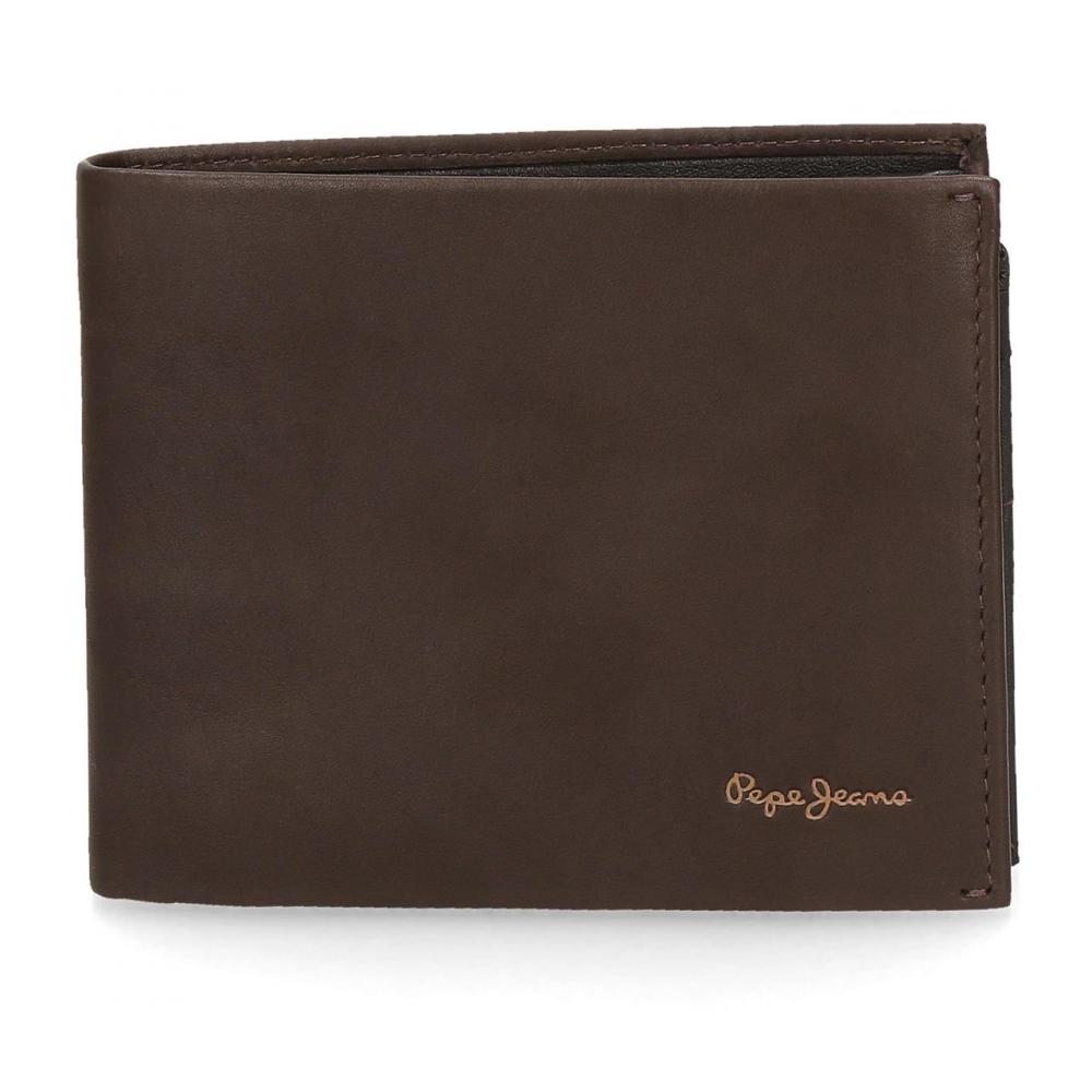 Comprar Pepe Jeans Pepe Jeans carteira de couro Feira carteira horizontal Brown -12.5x9.5x9.5x1cm