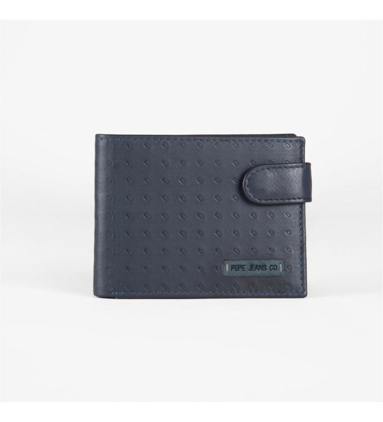 Comprar Pepe Jeans Cartera Pepe Jeans de piel Rain horizontal con cierre de clic Azul -11x8,5x1cm-