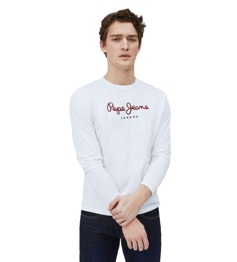 Pepe Jeans T-shirt long Eggo blanc