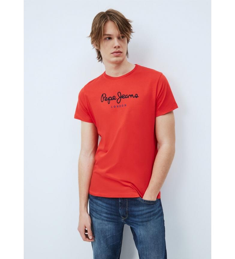 Pepe Jeans T-shirt basic Eggo Logo rossa