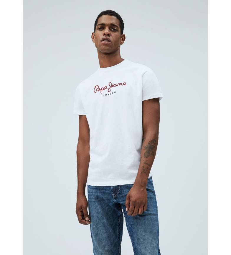 Pepe Jeans Basic T-shirt Logo Eggo white