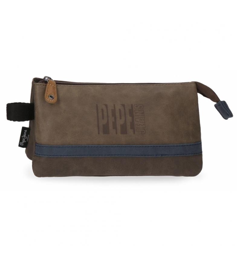 Comprar Pepe Jeans Custodia tre scomparti Pepe Jeans Max marrone -22x12x12x5cm