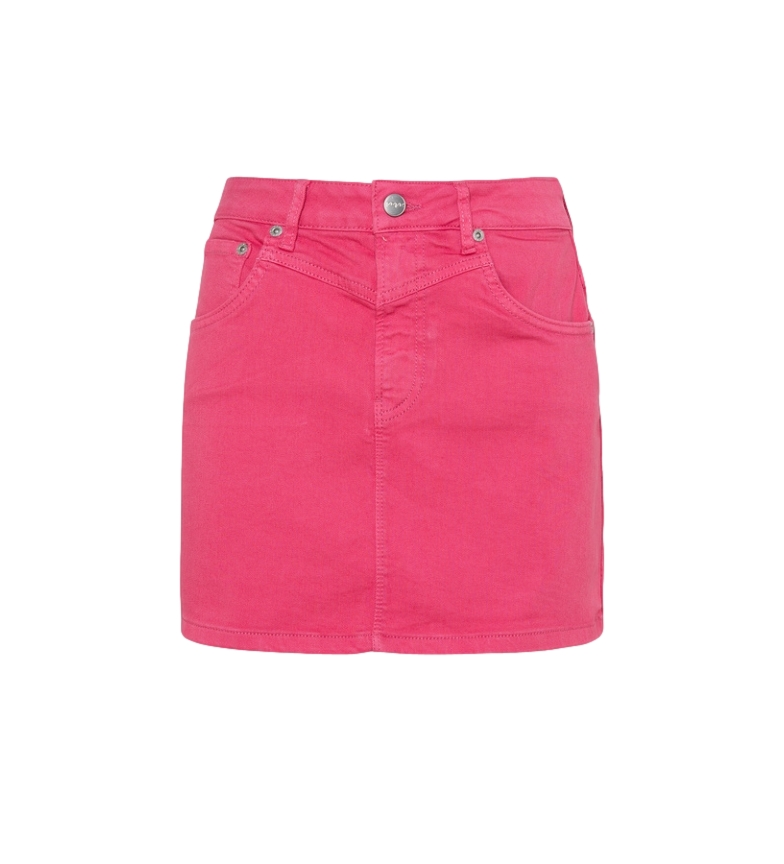 Pepe Jeans Rachel Saia de ganga rosa