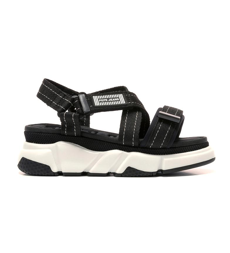 Comprar Pepe Jeans Sandalias Falmer Cross negro -Altura plataforma + cuña: 6cm-