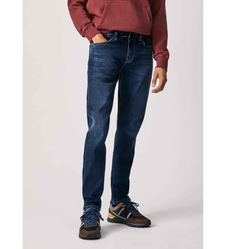Pepe Jeans Hatch 5PKT Slim Fit Low Waist Navy Jeans