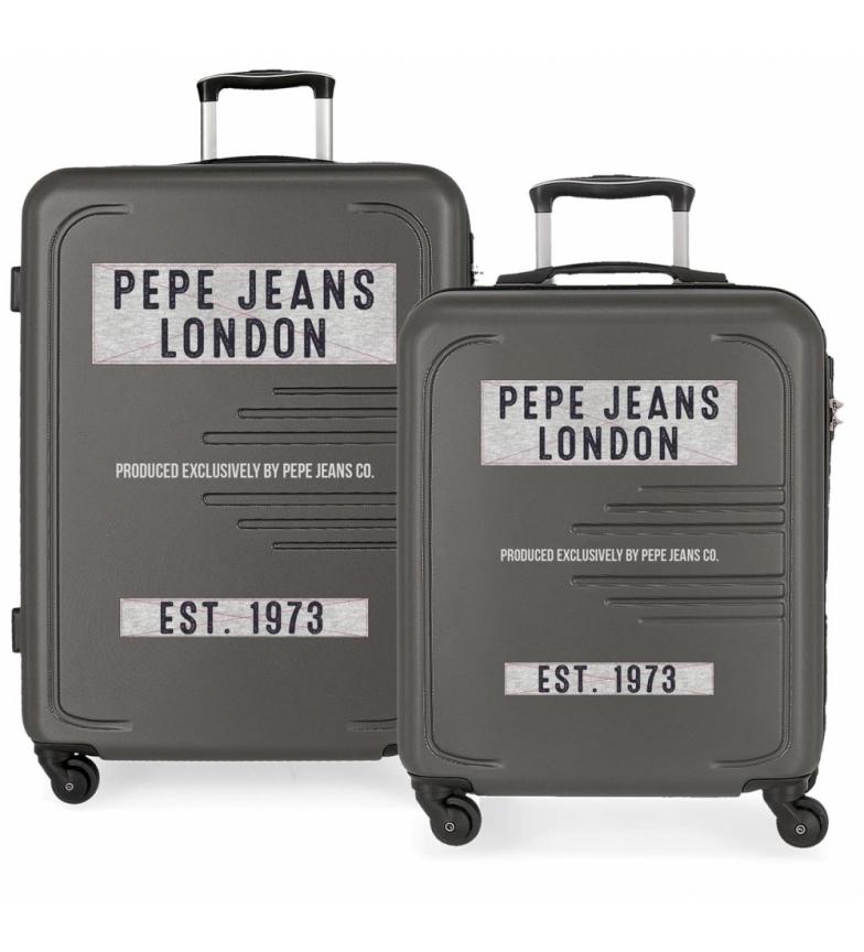 Comprar Pepe Jeans Conjunto de 2 malas rígidas 37L / 80 L Peje Jeans Edison Gray -55x40x20 / 69x49x28cm