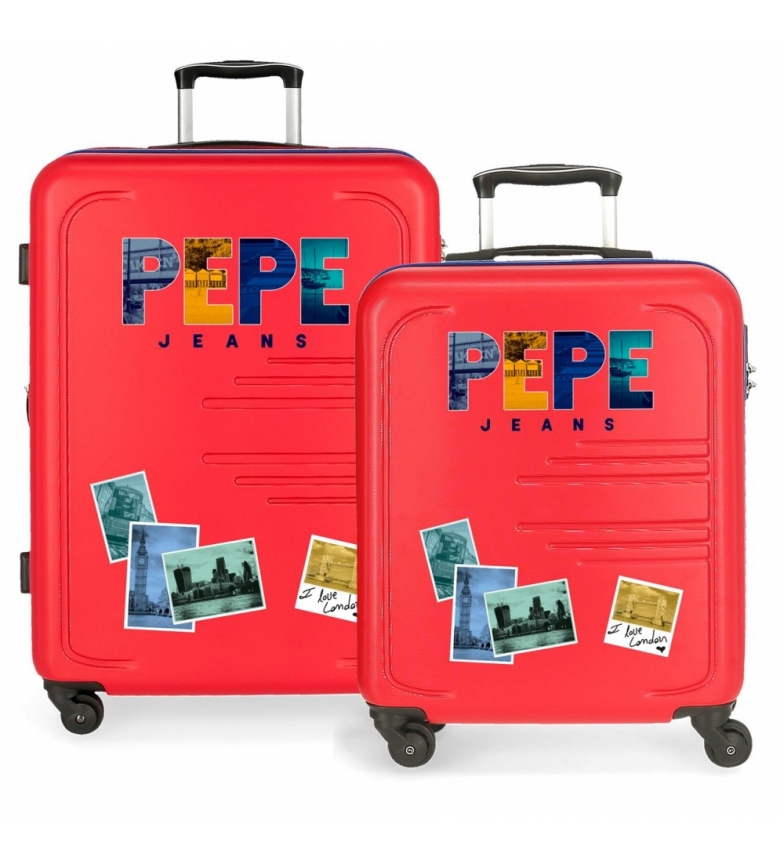 Comprar Pepe Jeans Juego de 2 maletas rígidas 37L / 80L Peje Jeans Edison Rojo -55x40x20 / 69x49x28cm-