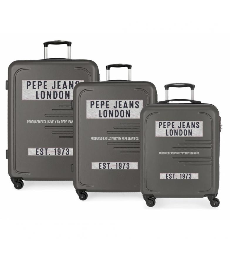 Comprar Pepe Jeans Conjunto de 3 malas rígidas 37L / 80L / 125L Peje Jeans Edison Gray -55 x 40 x 40 x 20 / 69 x 49 x 49 x 28 / 79 x 56 x 33 cm