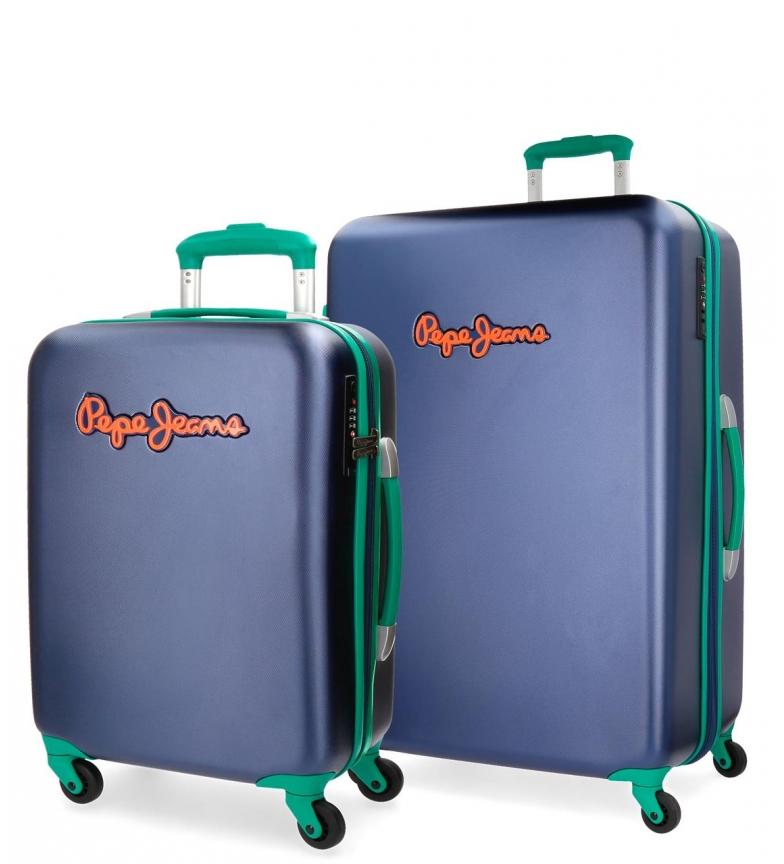 Comprar Pepe Jeans Ensemble de valises rigide Bristol bleu Pepe Jeans -38x55x20cm / 52x77x31cm-