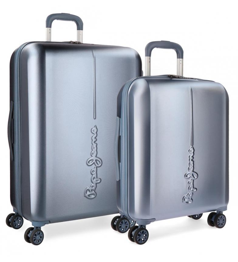Comprar Pepe Jeans Conjunto de Pepe Jeans Cambridge Celeste bagagem rígida 55-70cm