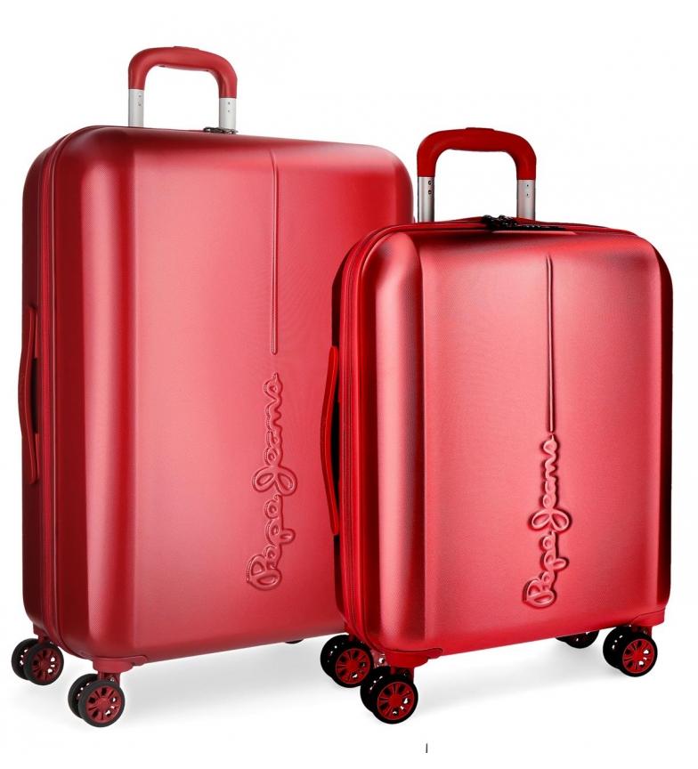 Comprar Pepe Jeans Juego de maletas Pepe Jeans Cambridge Rojo rígidas -40x55x20cm / 48x70x28cm-
