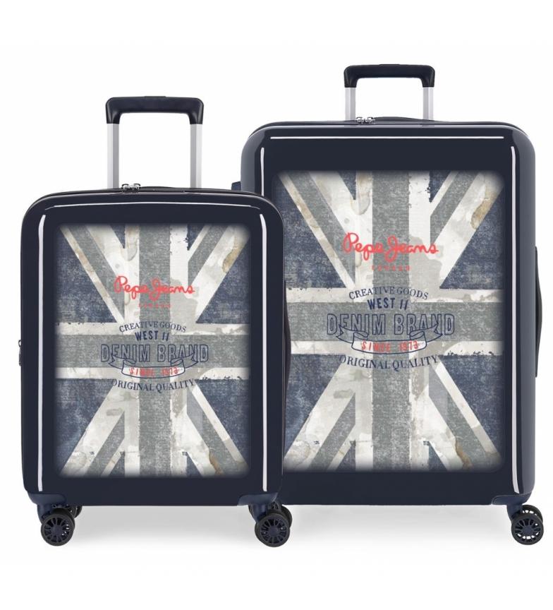 Comprar Pepe Jeans Juego de maletas Pepe Jeans 38,4L y 81L Ian rígidas -55x40x20cm/70x48x28cm-