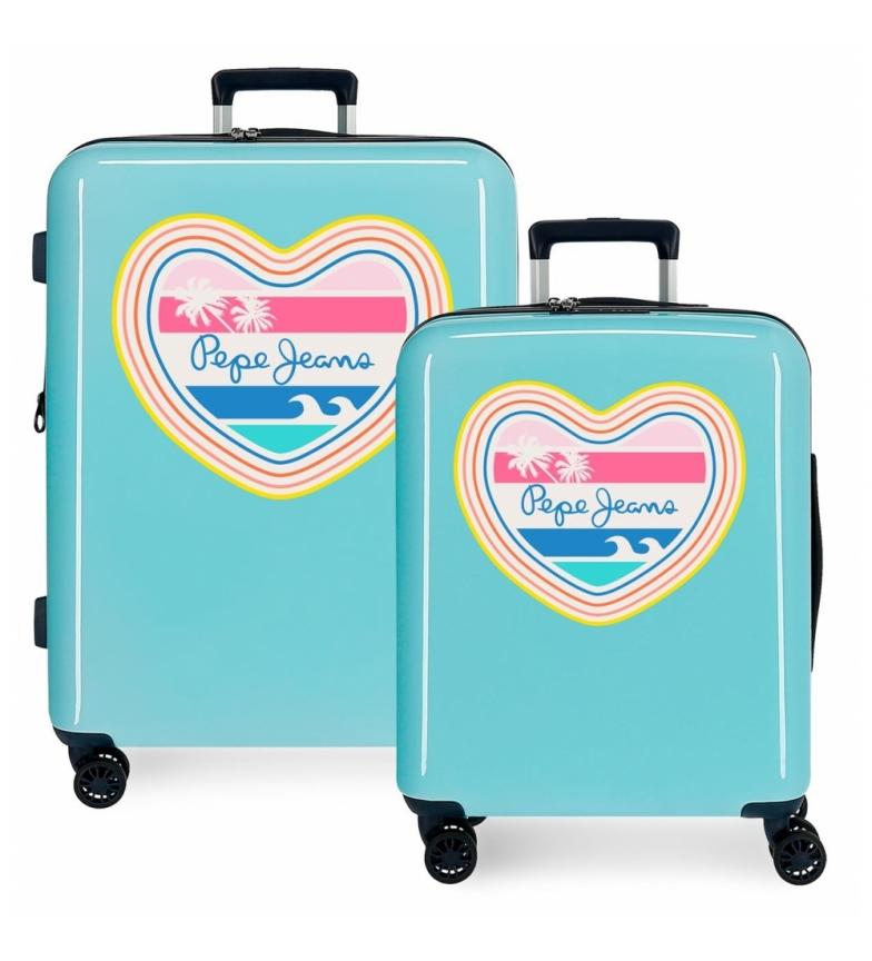 Comprar Pepe Jeans Ensemble de valises Pepe Jeans rigide 38.4L / 81L Cali -55x40x20 / 70x48x26 cm- 55x40x20 / 70x48x26 cm.