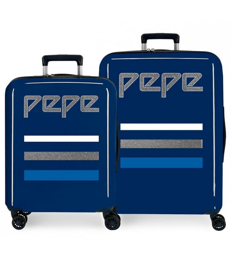 Comprar Pepe Jeans Juego de maletas Pepe Jeans Taking off rígidas 38,4L y 81L azul -55x40x20cm/70x48x28cm-