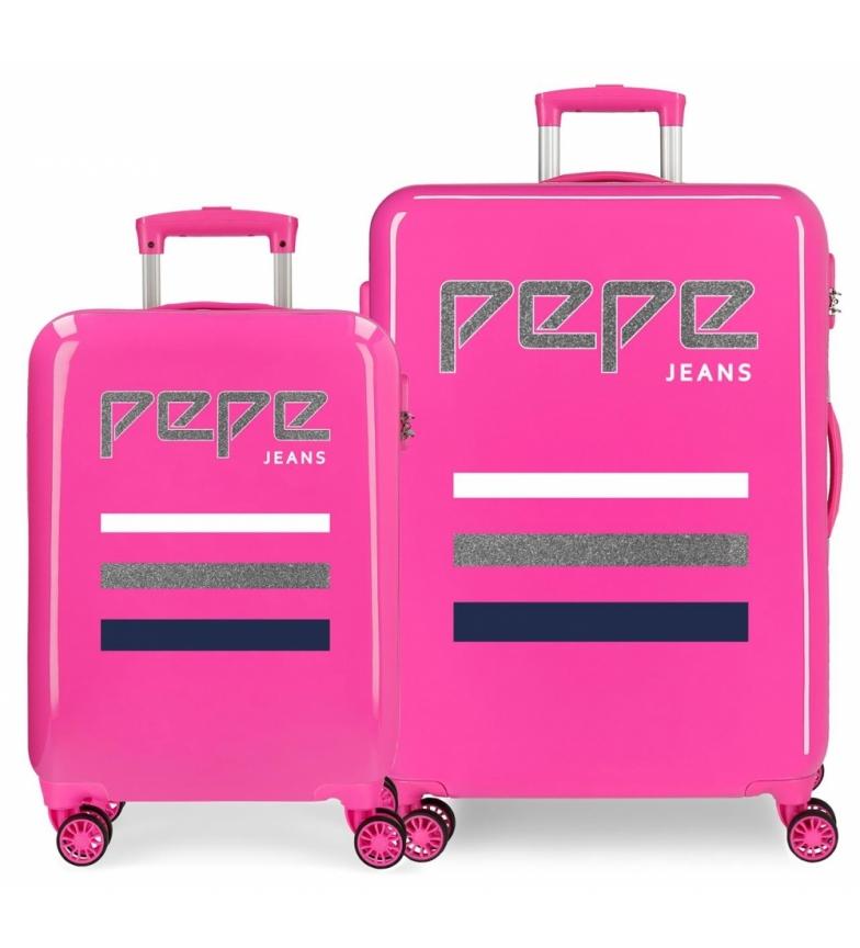 Comprar Pepe Jeans Ensemble de valises Pepe Jeans World rigide 34L et 70L Fuchsia -38x55x55x20cm/48x68x26cm