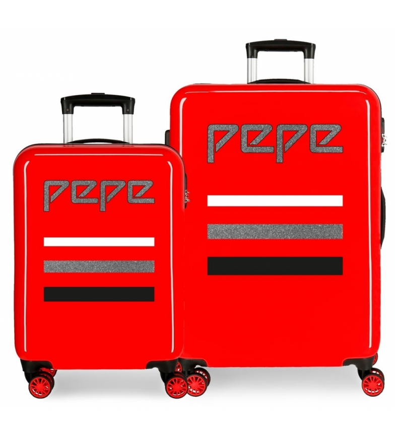 Comprar Pepe Jeans Set of suitcases Pepe Jeans World rigid 34L and 70L Red -38x55x20cm/48x68x26cm