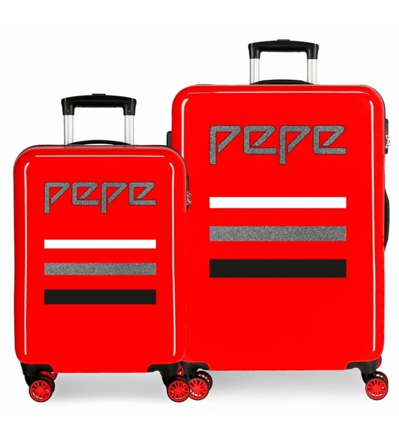 Comprar Pepe Jeans Juego de maletas Pepe Jeans World rígidas 34L y 70L Rojo -38x55x20cm/48x68x26cm-